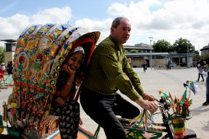 Stephen Williams MP and Restless Development volunteer Nazmeen Amin - compressed