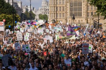 Hundreds of thousands of people marched in countries across the world last September calling for leadership and action on climate change.