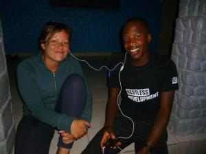 Faith on her ICS placement in Zimbabwe at the start of 2014.