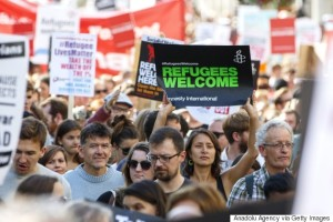 Thousands of people lined the streets in London in August this year, to show their support for refugees.
