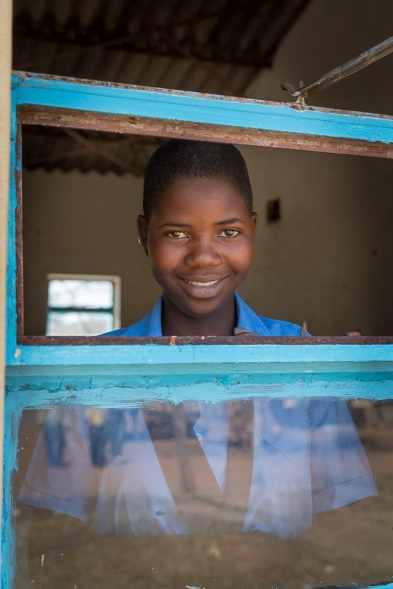 A student at St Henry's Chikurumadziva secondary school and member of our layer hens project, Zimbabwe. (PC Restless Development/ Bad Rabbit Studios)