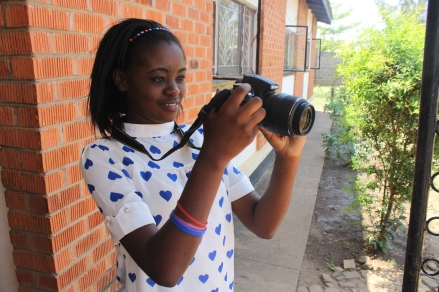 I took this photo while teaching a young volunteer photography skills in Zambia. (PC Restless Development/ Gemma Munday)